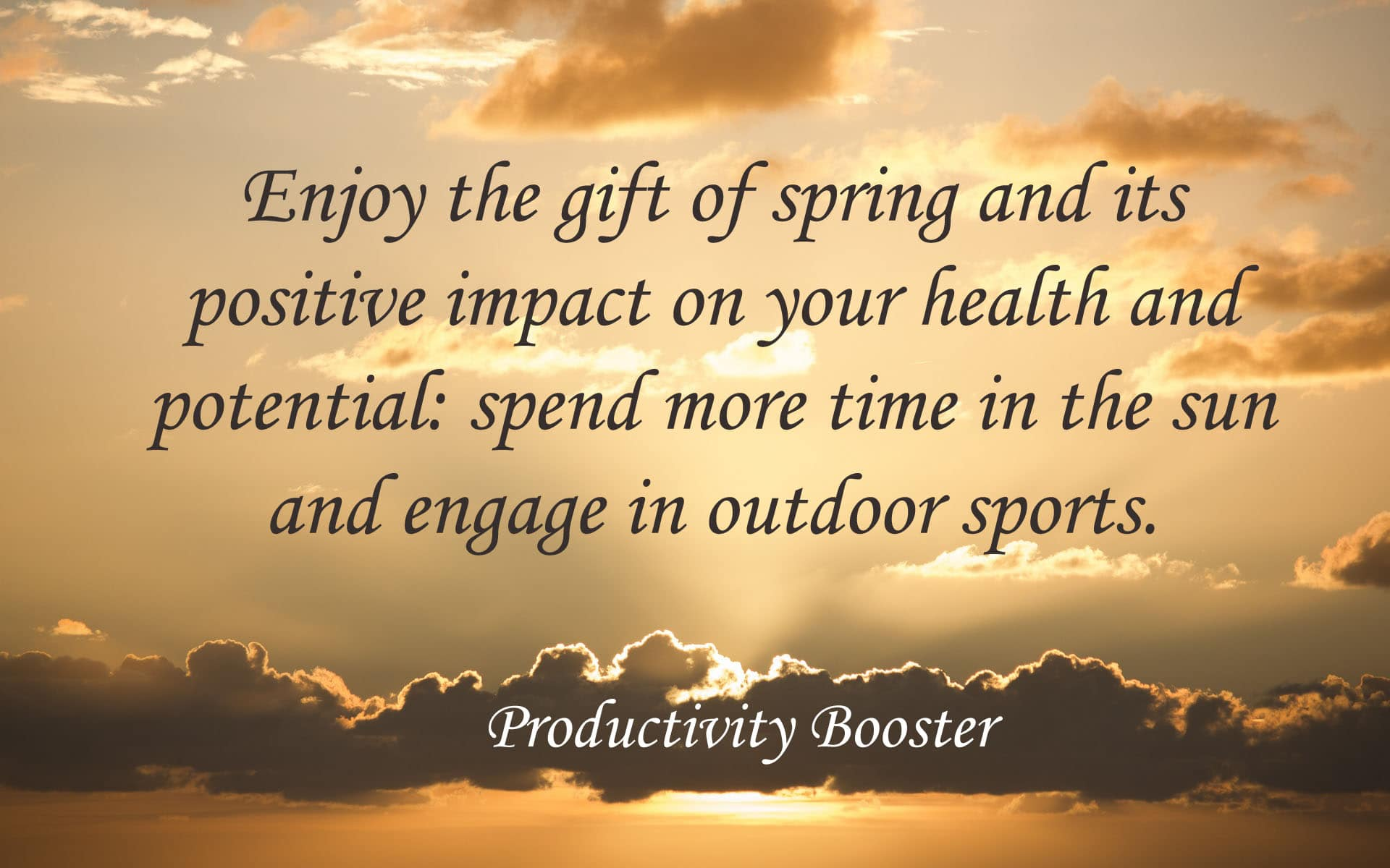 enjoy spring and boost potential