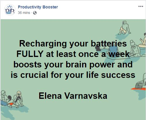productivity booster recharge fully