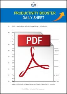 Productivity Booster Daily Sheet